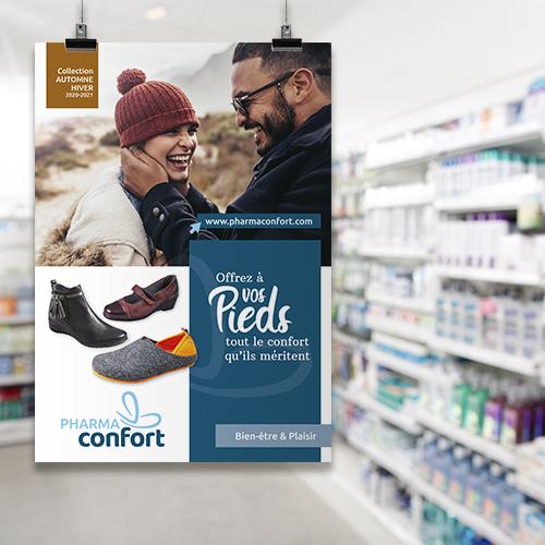 L'Agence de design packaging Morgane accompagne Pharmaconfort dans sa stratégie de marque