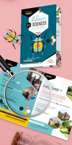 Création brochure du Manoir des Sciences de Réaumur par l'Agence de communication Morgane