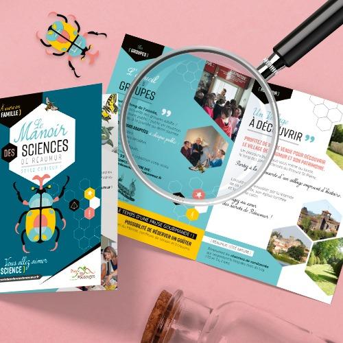 Création brochure pour le Manoir des Sciences de Réaumur