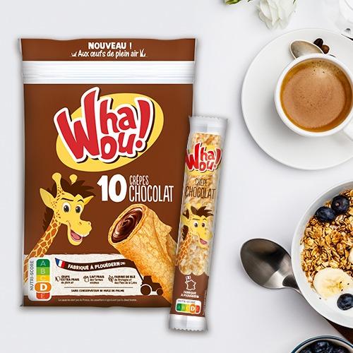Packaging alimentaire et Communication visuelle pour Whaou