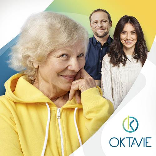 Création d'identité visuelle pour l'entreprise de service à la personne Oktavie