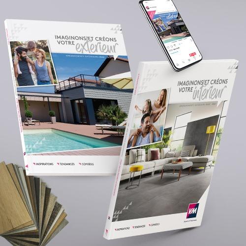 Création plaquette d'entreprise et catalogues produits pour VM Matériaux